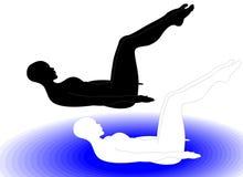 Gymnastik 2 Stockbild