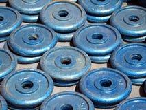 Gymnastik-Ausrüstung - Gewichte Lizenzfreies Stockfoto
