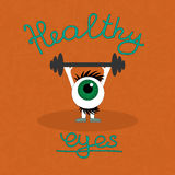 Gymnastik för de sunda ögonen Arkivfoto