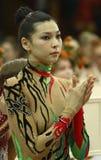 gymnastik för koppderiuginaflicka royaltyfri fotografi