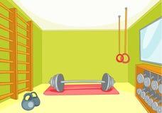 Gymnastik-Raum lizenzfreie abbildung