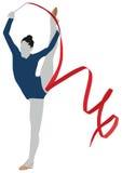 Gymnastik-rhythmischer Sport Stockfoto