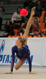 gymnastik rytmiska moscow Arkivbilder