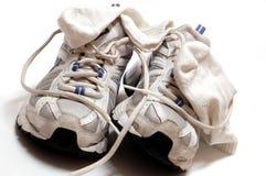 Gymnastik-Schuhe und Socken Stockbilder
