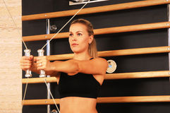 Gymnastik-Sitzung Lizenzfreie Stockfotografie