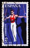 Gymnastik sportserie, circa 1960 Royaltyfria Foton