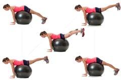 Gymnastikball-Übung lizenzfreies stockfoto