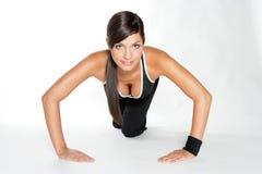 Gymnastikfrau Lizenzfreies Stockbild