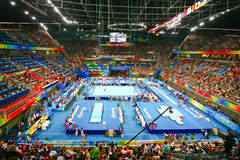 Gymnastikkonkurrenz der Männer in Peking lizenzfreies stockfoto