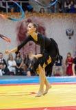 Gymnastikshow Arkivfoto