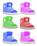 gymnastikskor för skor för barnfett set Royaltyfria Bilder