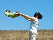 Gymnastique à l'extérieur Images libres de droits