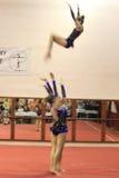 Gymnastique acrobatique - trio de Sokolnia Chorzow Images stock