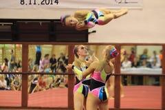 Gymnastique acrobatique - TuG Leipzig Photo stock