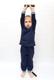 Gymnastique avec des haltères Image libre de droits