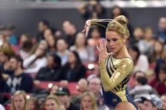 2015 gymnastique de dames de NCAA - WVU Image libre de droits