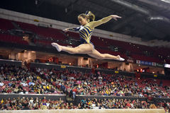 2015 gymnastique de dames de NCAA - WVU Photos libres de droits