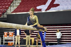 2015 gymnastique de dames de NCAA - WVU Images libres de droits