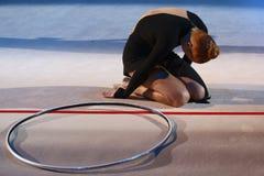 Gymnastique de fille (cuvette de Deriugina) Image libre de droits