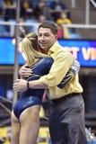 2015 gymnastique de NCAA - état de WVU-Penn Images libres de droits
