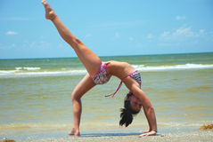 Gymnastique de plage Photos stock