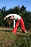 Gymnastique en nature Photo stock