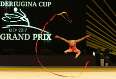 Gymnastique Grand prix de Rhytmic à Kiev, Ukraine Photos libres de droits