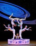 Gymnastique - la porcelaine bleue et blanche Image libre de droits