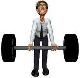 gymnastique lourde de l'homme d'affaires 3d Image stock