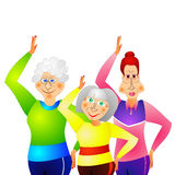 Gymnastique pour les femmes aînées Images libres de droits