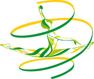 Gymnastique rhythmique Images libres de droits
