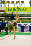 Gymnastique rhythmique Photographie stock