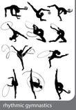 Gymnastique rhythmique - graphisme vectoriel coloré Image stock