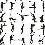 Gymnastique rhythmique - graphisme vectoriel coloré Photo libre de droits