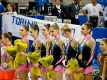 Gymnastique rhythmique : l'Italie Photo libre de droits