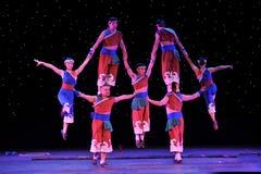 Gymnastique rythmique de groupe Photos stock
