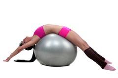 Gymnastisch mit einer Kugel Lizenzfreie Stockfotos