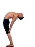Gymnastische ausdehnende Lage des Mannes stockbilder