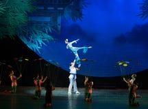 Gymnastische Fähigkeit-akrobatische showBaixi Traum-Nacht Lizenzfreies Stockfoto