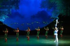 Gymnastische Fähigkeit-akrobatische showBaixi Traum-Nacht Stockbild