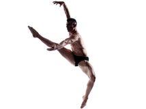 Gymnastischer Sprung des Manntänzers lizenzfreies stockbild
