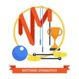 Gymnastisches Konzept Rhythmics Lizenzfreie Stockbilder