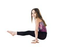 Gymnastisches Mädchen Stockfotos