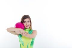 Gymnastisches Mädchen Lizenzfreies Stockfoto
