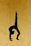 Gymnastisches Schattenbild Stockfoto