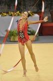 gymnastisk irenaisra l rythmic risenso arkivfoto