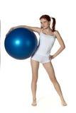gymnastisk kvinna för boll royaltyfri bild