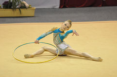 gymnastisk rythmic jasminkerber Arkivbild