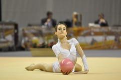 gymnastisk rythmic letulflotta Royaltyfri Bild