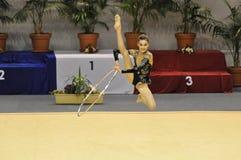 gymnastisk rythmic letulflotta Royaltyfri Foto